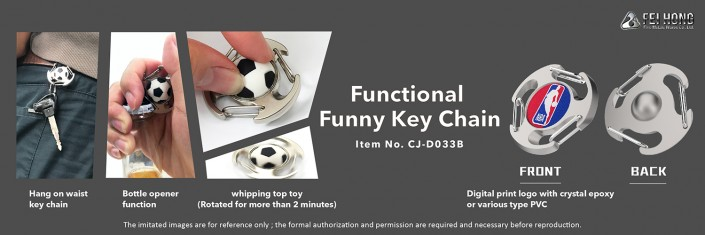 Functional Funny Zinc Alloy KeyChain-CJ-D033B-Fei Hong