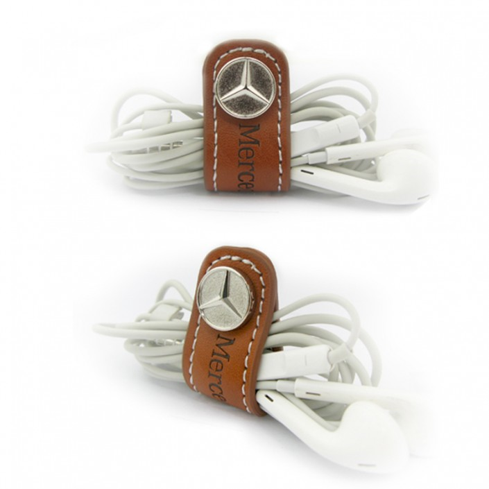 Leather and Metal Earphones Cable Winder-Metal Souvenir & Gift Manufacturer