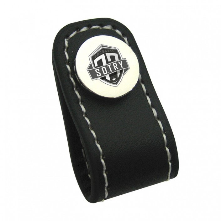 Custom Logo Leather Cable Winder-Metal Leather Cable Winder Manufacturer