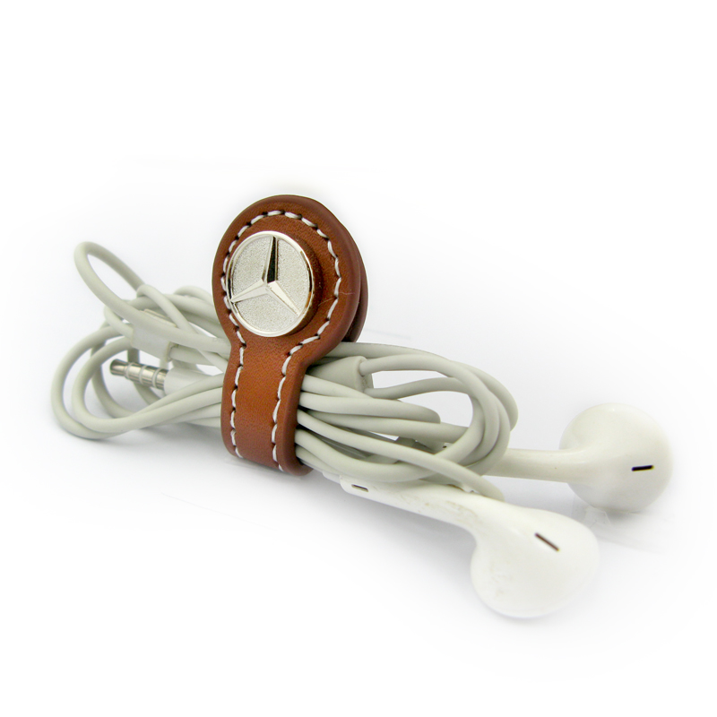 Leather Cable Management for Headset-Promotional Products Supplier