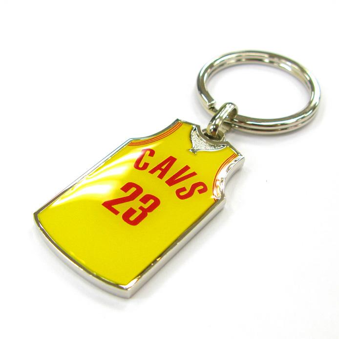 Sport Souvenir Basketball Jersey Zinc Alloy Keyring