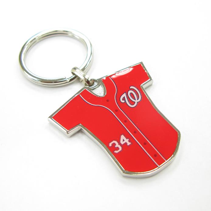 Sport Souvenir Baseball Jersey Metal Keychain