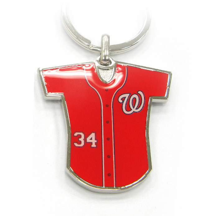 Baseball Jersey Metal Keychain