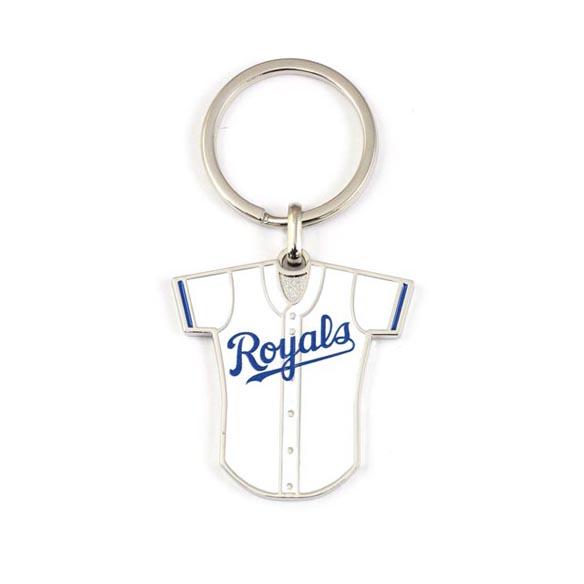 Metal Keyring in Baseball Jersey Shape