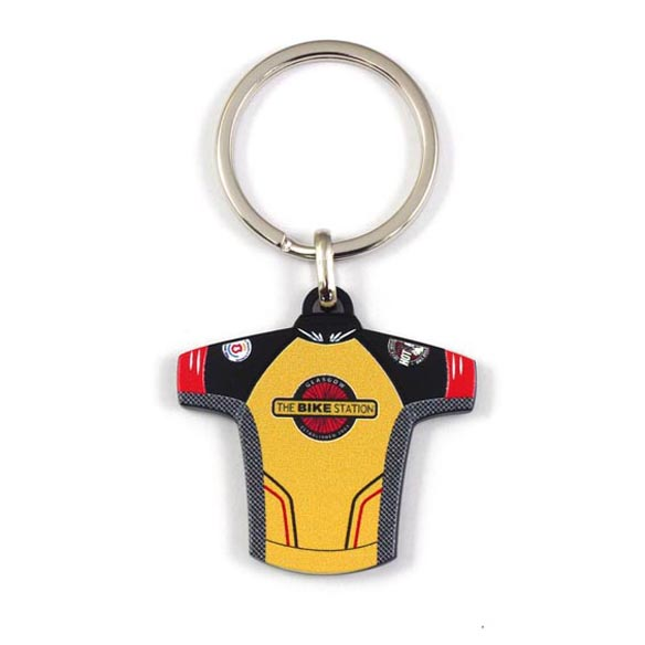 Keyring in Cycling Jersey Shape