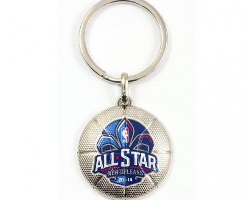 Basketball Metal Keychain with Sport Brand