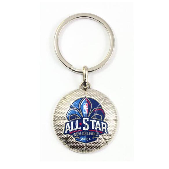 Basketball Metal Keychain with Sport Brand