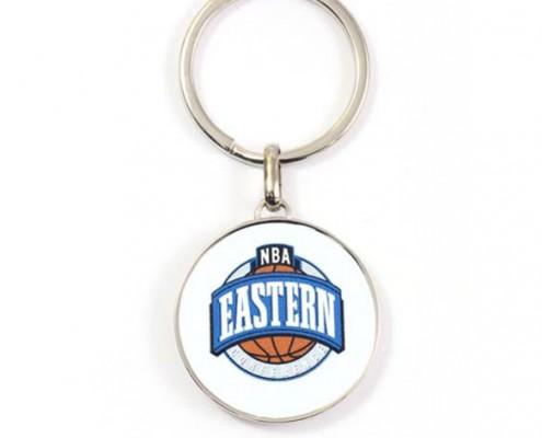 Basketball Shape Metal Keychain