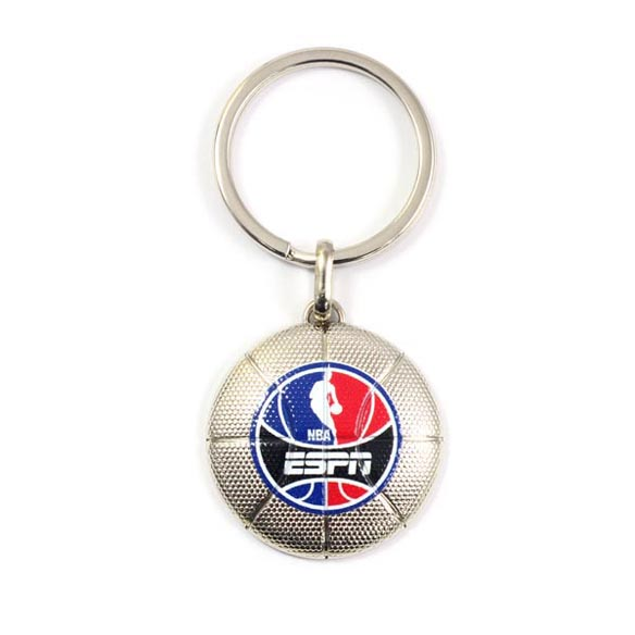 Zinc Alloy Basketball Shape Keychain