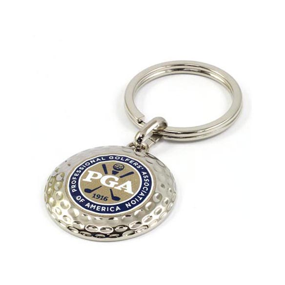 Golf Ball Zinc Alloy Keychain