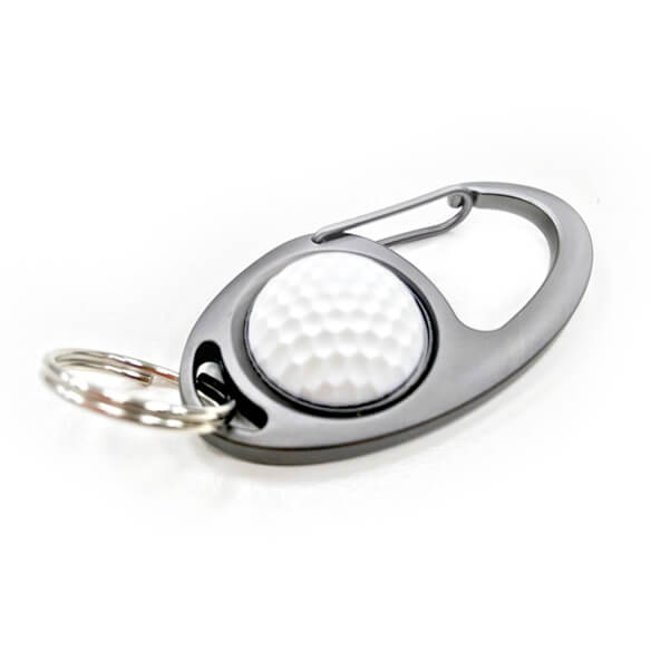 Oval Shaped Carabiner Hook Key Ring