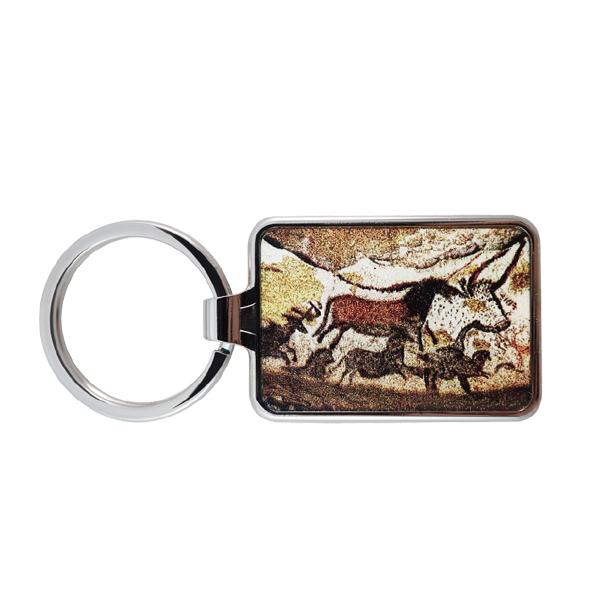 zinc alloy keyring with an ancient art in paris
