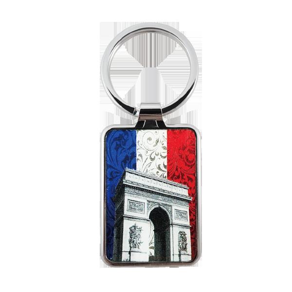 zinc alloy keyring with Arc de Triomphe