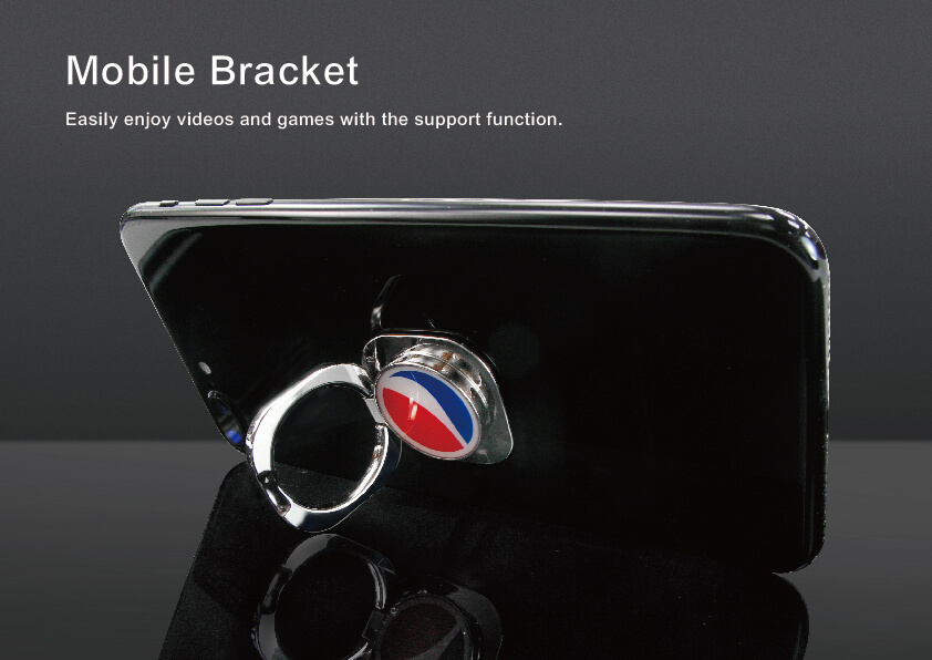 Rotating Square Metal Phone Ring Stand
