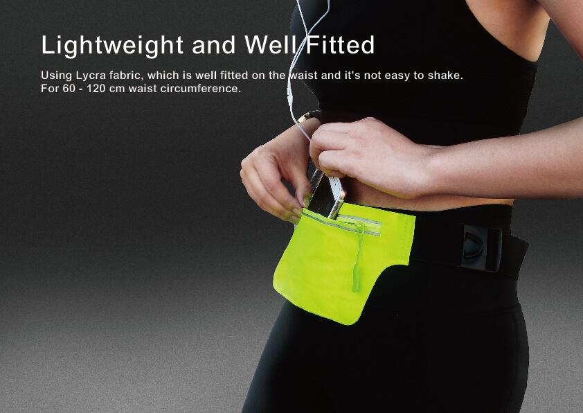 Adjustable Close Fitting Running Belt