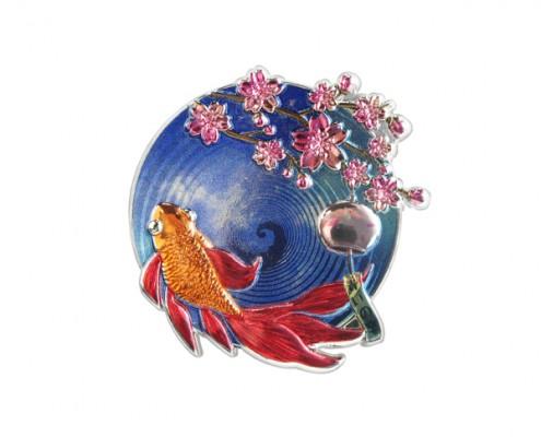 2D Celebration Sakura Styling Pin Badge
