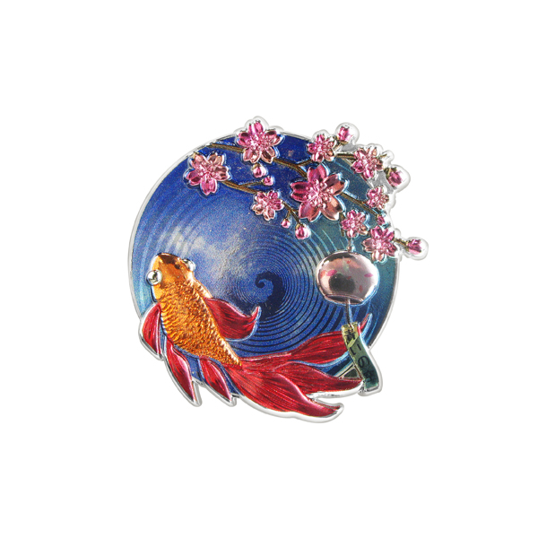 2D Celebration Sakura Styling Pin Badge