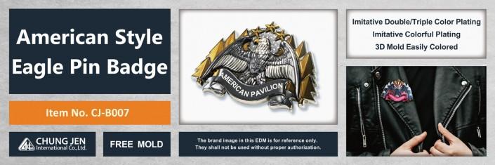 Custom American Style Eagle Pin Badge