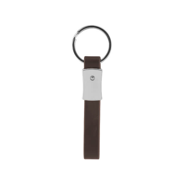 Single Ring Simple Leather Keychain
