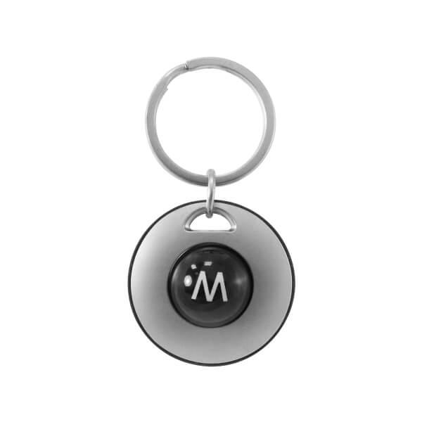 Laser Engraving Custom Round Plastic Ball Keychain