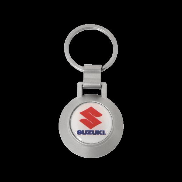 Round Custom Brand Keychain with Bottle Opener Design
