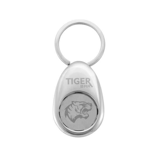 Custom Egg-shaped Coin Holder Keychain