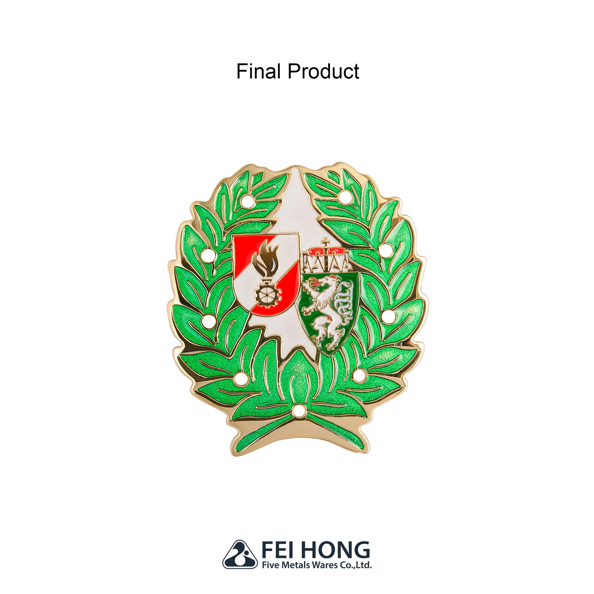 Colorful Epoxy Metal School Badge Pin