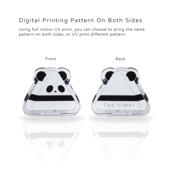 Digital Printing Pattern On Both Sides. Using full colour UV print, you can choose to pring the same pattern on both sides, or UV print different pattern.