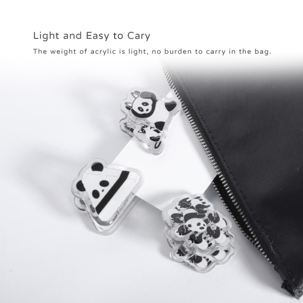 Light and Easy to Cary. The weight of acrylic is light, no burden to carry in the bag.