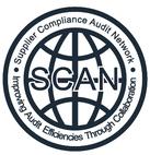 SCAN反恐驗廠認證的企業標誌線條明確