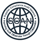 SCAN反恐验厂认证的企业标志线条明确