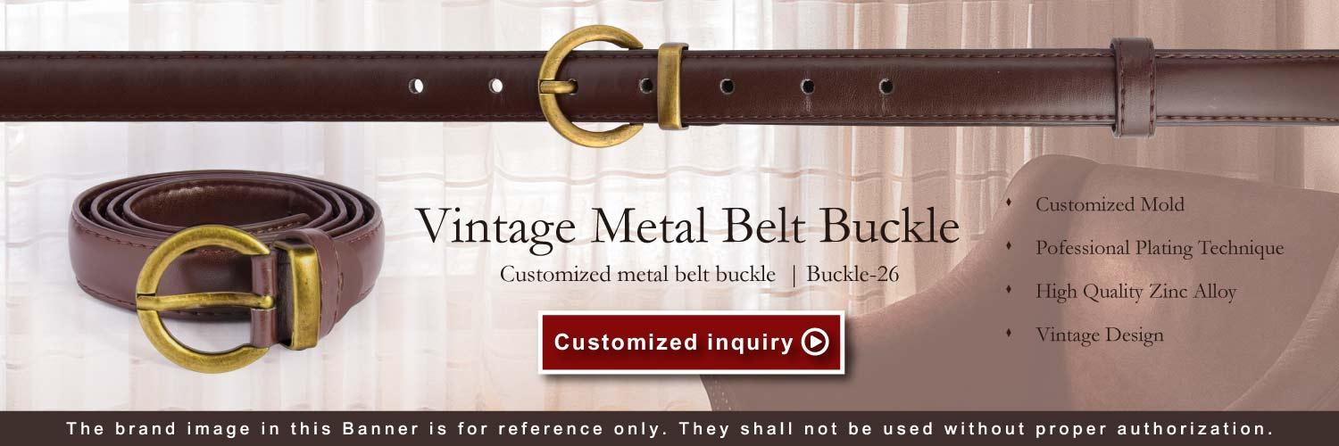 Banner of O Shaped Double Ring Design Belt Buckle